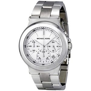 MICHAEL KORS~522~SILVER TONE STAINLESS STEEL WATCH